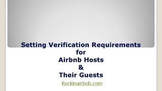 Airbnb Verification Requirements Host Series