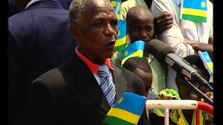 preview picture of video 'President Kagame speaking to thousands of residents in Gikomero - Kigali, 9 September 2014'