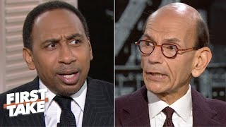 Stephen A. challenges Paul Finebaum on Jim Harbaugh's future at Michigan | First Take