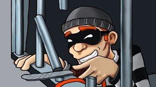 ВОРИШКА БОБ - НАЧАЛО, ПОБЕГ ИЗ ТЮРЬМЫ! Мультяшная игра для детей про воришку Robbery Bob