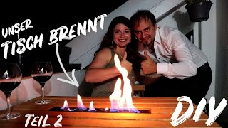 Wir bauen einen brennenden Balkontisch selbst - Teil 2 - Tisch einfach selber bauen