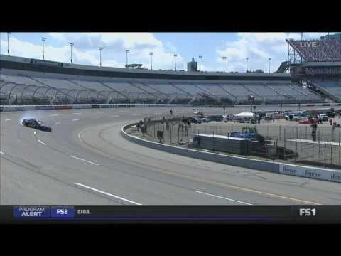 Monster Energy NASCAR Cup Series 2017. FP1 Richmond International Raceway. Erik Jones Crash