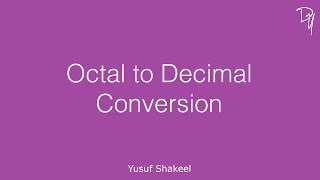 Decimal to Octal conversion of a number with fractional part