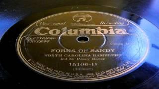 Forks Of Sandy - Charlie Poole's North Carolina Ramblers (Columbia)