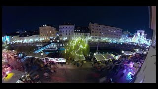 Prižig lučk v Ljubljani 2018 (GoPro Fusion 360 VR Time Lapse video)