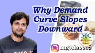 Why Demand Curves Slopes Downward in Hindi