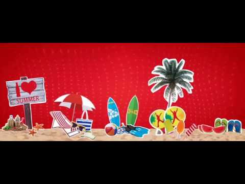 קליפ אווירה ממותג+לוגו נושם Summer Camp Coca cola