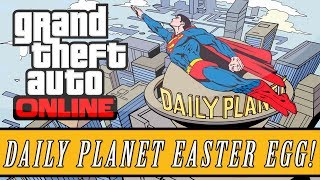 "Grand Theft Auto 5 | Superman ""Daily Planet"" Easter Egg! (GTA V)"