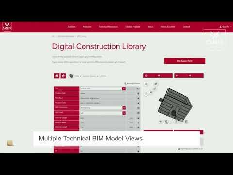 Video über den neuen 3D BIM CAD Produktkatalog von Cubis Systems