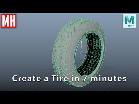 modeling a 3d tire in maya tutorial by mike hermes