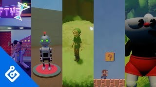 Playing Mario, Cuphead, Zelda, And More In Dreams