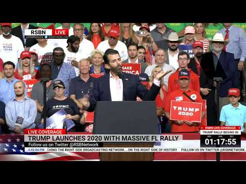 🔴 WATCH: Donald Trump Jr. Delivers EXPLOSIVE Speech at Reelection Rally