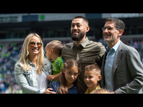 Clint Dempsey is honored at CenturyLink Field following retirement