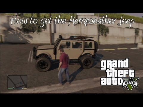 *GTA 5* How To Get The Merryweather Jeep (Best Off-Road Truck) (Very Rare)