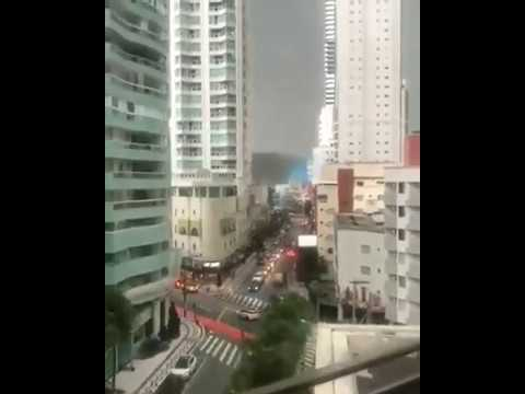 Electricity Damage on Super strong wind in Brazil