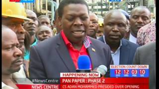 Adan Mohammed presides over the opening of Pan Paper phase 2