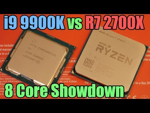 Intel i9 9900K vs Ryzen 7 2700X Showdown – Ultimate 8 Core CPU Battle!