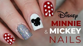 Minnie And Mickey Mouse Nails | NailsByErin