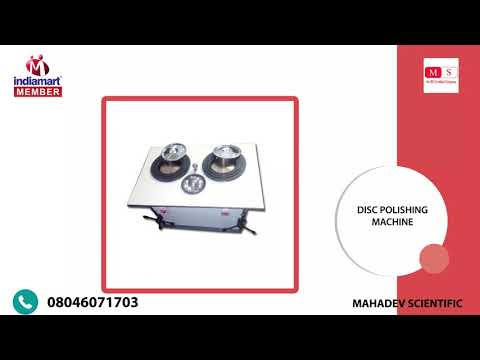 Double Disc Variable Polishing Machine