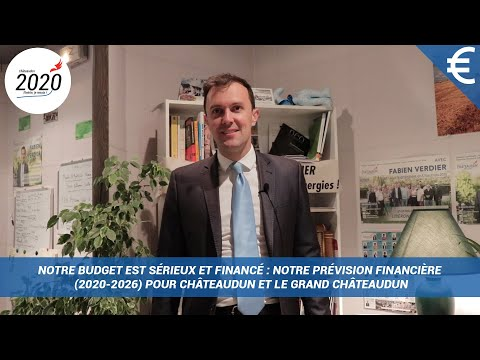 Notre budget est sérieux et financé : notre prévision financière (2020-2026)