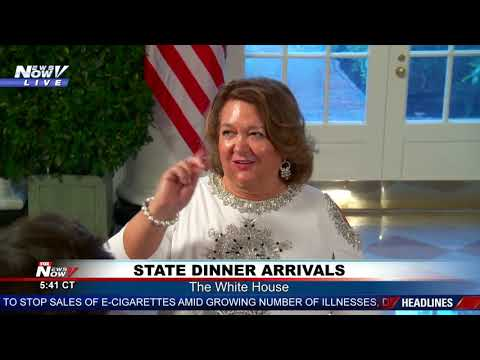 STATE DINNER: See the arrivals at the State Dinner at the White House