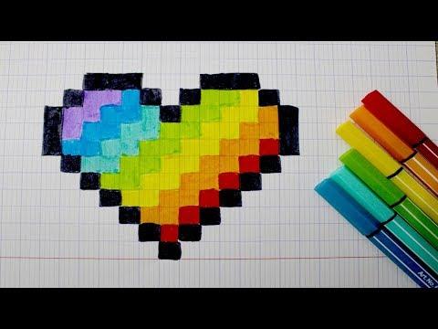 Pixel Art Caca Multicolore