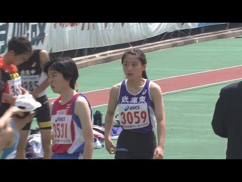 第67回兵庫リレーカーニバル 中学女子4x100m 準決勝
