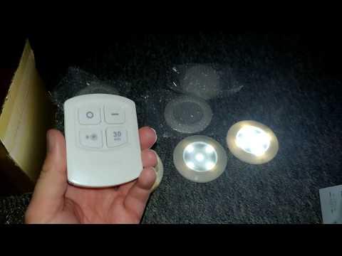 Treppen Licht, Schrankleuchten, Schrank Lichter Inlife LED Nachtlicht mit Fernbedienung