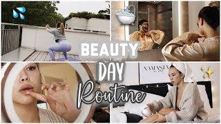 🌟 Beauty & Spa Routine at Home 🛁 (Workout, Haarentferunung,Masken) -Adorable Caro