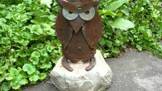 Recycled Junk Metal Folk Art Sculptures In Sodus, MI