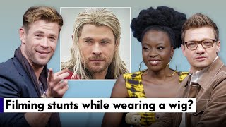 """Avengers: Endgame"" Cast Answers Fan Questions (Chris Hemsworth, Jeremy Renner, & Danai Gurira)"