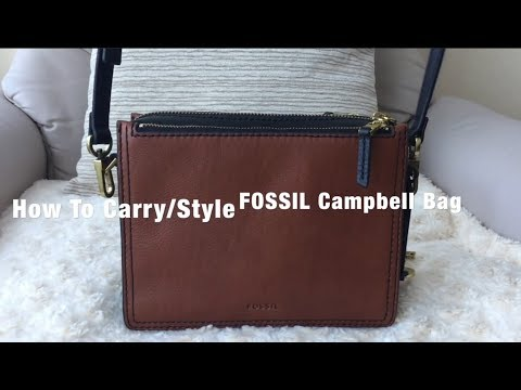 How to Carry/Style A FOSSIL Campbell Crossbody Bag | Modelling shots