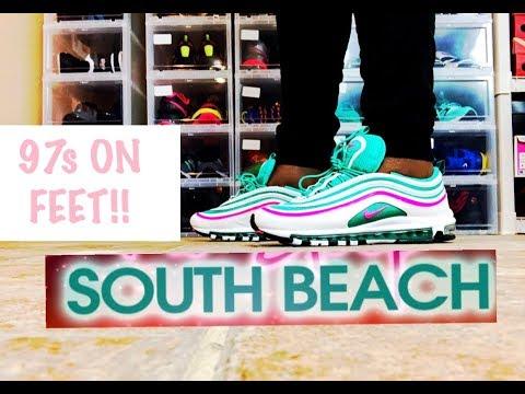 south beach nike air max 97 miami vice review + on feet