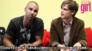 Interview de Elle Girl (Novembre 2011) à Tokyo avec Shemar Moore et Matthew Gray Gubler