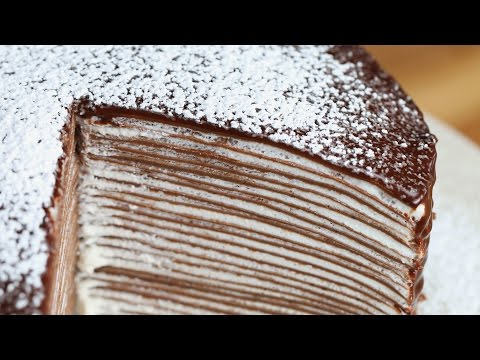 Video Chocolate Crepe Cake