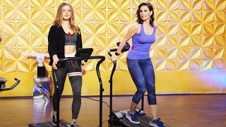 Dany Michalski zeigt eine neue Fitnessuhr und Fitnessgeräte bei PEARL TV