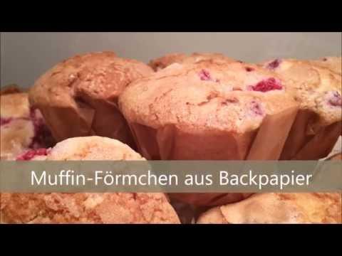 Tutorial: Muffin-Förmchen aus Backpapier selbst machen // Episode 0039