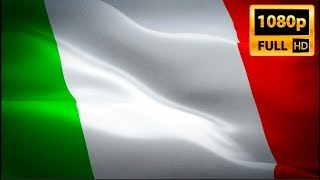 Italy flag video waving in wind. Realistic Italian Flag background. Italy flag Full HD