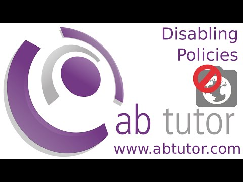 Disabling policies temporarily with AB Tutor