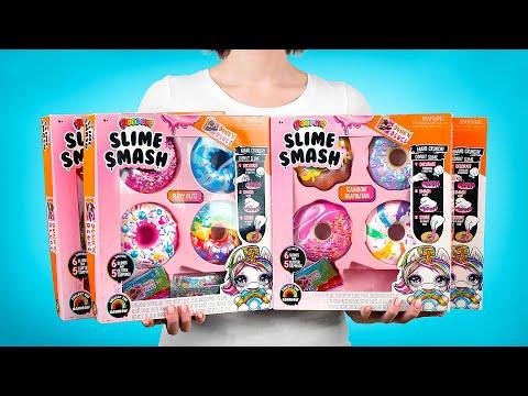 Unboxing Koleksi Lengkap Donat Poopsie Slime Smash! 🍩