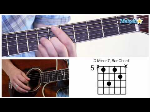 How to Play a D Minor 7 (Dm7) Bar Chord on Guitar (5th Fret)