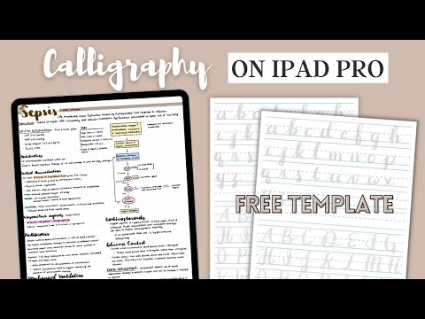 How to Write Calligraphy on iPad | + Free Template