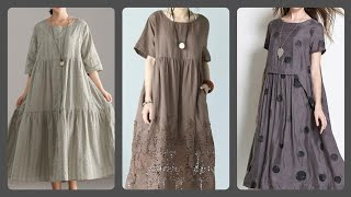 Stylish Cotton Loose Maxi Dresses Styles For Womens