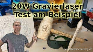 Laser Gravierer, 20W Gravierlaser - Test am Beispiel (Vigo Engraver, Kkmoon Laser, 20Watt)
