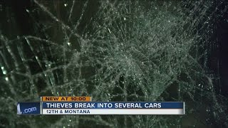 Vandals break into at least a dozen cars on south side