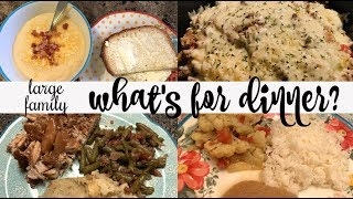 WHAT'S FOR DINNER & DESSERT || REAL LIFE LARGE FAMILY DINNERS & DESSERTS