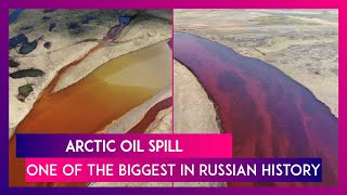 Arctic Circle Oil Spill Turns Ambarnaya River Red, Russia Declares State Of Emergency Over Crisis - Download this Video in MP3, M4A, WEBM, MP4, 3GP