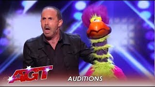 Michael Paul Ft. Willie The Exotic Bird Who Can PRAY & CRAP In Same Act | Americas Got Talent 2019