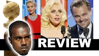 Golden Globes 2016 Review & Reaction  Lady Gaga Jennifer Lawrence Leonardo DiCaprio  Winners