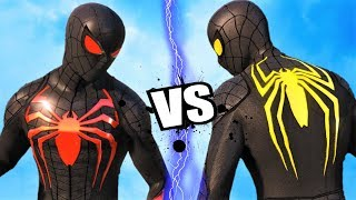RED SPIDER-MAN vs YELLOW SPIDER-MAN (Anti Ock Suits) - Epic battle